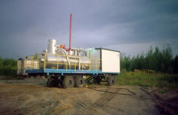Oil and gas well development mobile unit